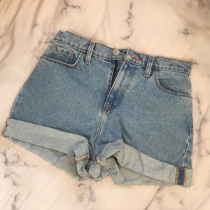 Brand new UO High waisted jean shorts